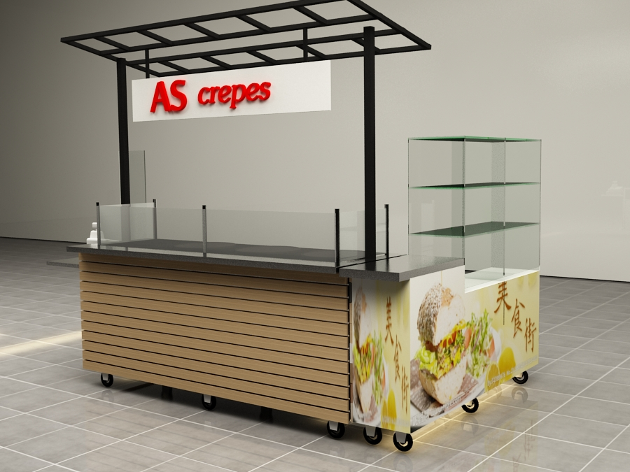 This Is A Solid Wood Crepes Carts